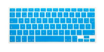 HRH Spanish Silicone EU Keyboard Cover Skin for Apple Macbook Pro Retina MAC 13 15 17 Air 13 (Turquoise)- Intl