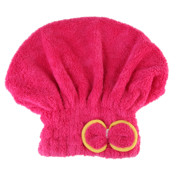 Microfiber Hair Turban Quickly Dry Hair Hat Wrapped Towel Bathred (Intl)