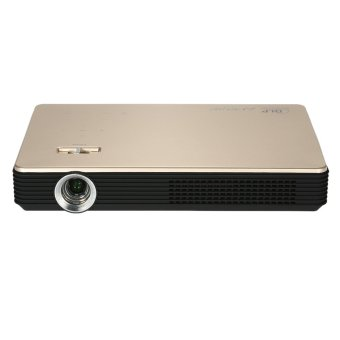 Andoer M1 Portable Full HD 1080P 1000 Lumens DLP Projector Android 4.4.2 Contrast Ratio: 10000:1 Wi-Fi 3D HDMI VGA USB for Business Education Personal Entertainment Home Theater (Intl)