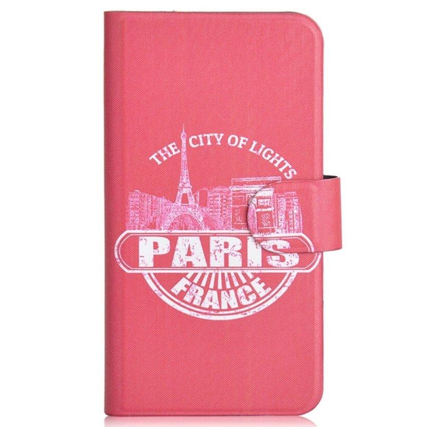 Paris Eiffel Tower Design Card Slot Magnetic PU Leather Flip Case Cover Compatible For LG Optimus 4x HD P880