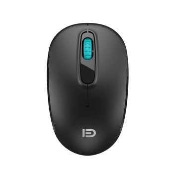 Forter M510 Computer Wireless Mouse 2.4GHz 1600DPI(Black mute) (Intl)