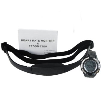 HRM-001 Heart Rate Monitor Pedometer Calories Count Exercises Sports Watch Sleep Mode Indicator (Intl)