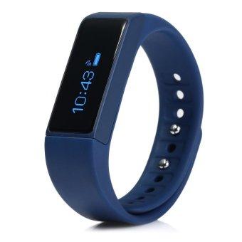 I5 Plus Smart Bracelet IP67 Bluetooth 4.0 Watch Wristband Sleep Monitoring Sports Tracking Remote Camera (Blue) - Intl