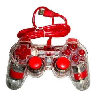 Xtech - Gamepad Xtech Transparan Single - Merah