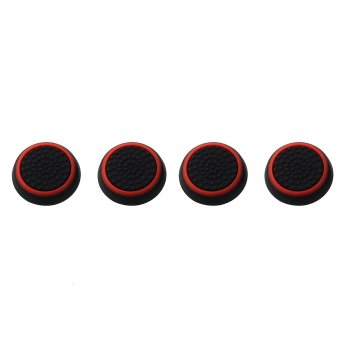 WiseBuy 4x Analog Thumb Grip Stick Joystick Caps Cover Set for XBOXONE XBOX360 Black+Red(INTL)