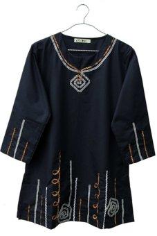 harga Kawung Baju Wanita Blouse Wanita Tunik Wanita Baju Muslim. BJ-001 - Hitam Lazada.co.id