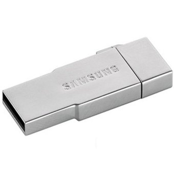 Samsung Metal OTG Card Reader with EVO MicroSDHC 32GB - OEM32GSB01 - Silver