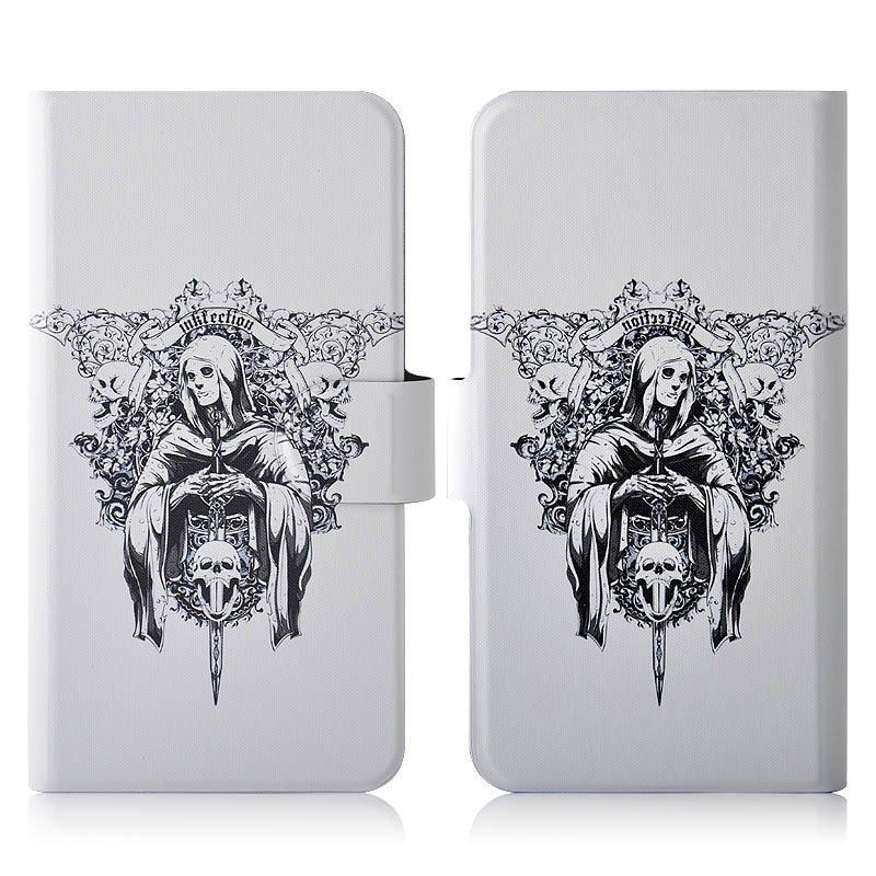 Skull Swordsman PU Leather New Flip Case Cover For Lenovo A690