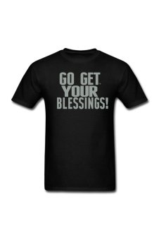 Men's Go Get Your Blessings Personalize T-Shirt for black - Intl