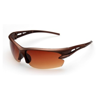 SRZ Sunglasses Outdoor Sports Cycling Glasses(Brown) (Intl)
