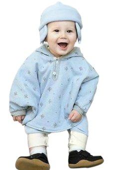 harga Cyber Baby Two-Sided Wear Reversible Children's Cape Outerwear Jacket Clothing Coat Velvet Cloak Hoodie (Light Blue) Lazada.co.id