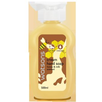 Watsons Honey & Milk Cream Hand Soap Bottle - 500ml