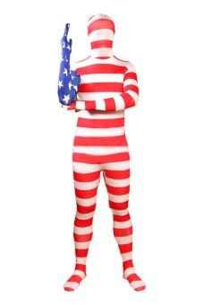 America National Flag Full Body Lycra Zentai (Intl)