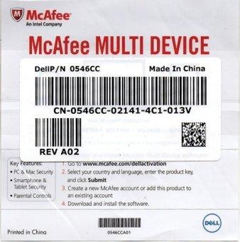 McAfee Antivirus Internet Security 15 Bulan - 3 User