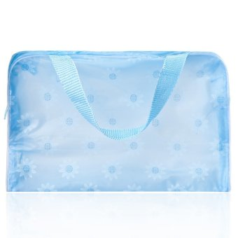 Lovely Printed Practical Convenient Waterproof Translucent Bath Wash Cosmetic Bag - INTL