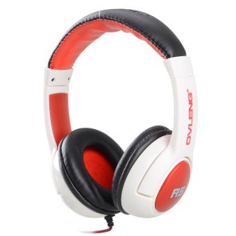 Deep Bass On-Ear Hi-fi Stereo 3.5mm Music Headphone - Black + Red + White - Intl