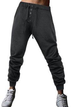 Innes Men's Running Trousers Sport Jogger Pants 5-Grey - Intl