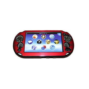 Red Colorful Aluminum Metal Skin Protective Cover Case for Sony PS Vita PSV PCH-2000 (Intl)