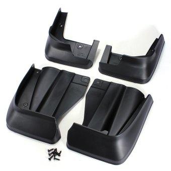 Black Mud Flaps Splash Guards Mudguard Full Set For 2009-2012 Honda Odyssey New (Intl)