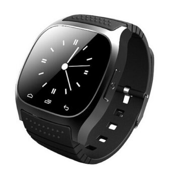 Waterproof Smart Watch M26S Woman Men Bluetooth Smartwatch Sync Phone Call Pedometer Anti-Lost For Android Smartphone (Black) - Intl