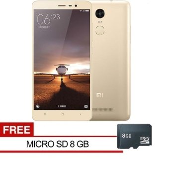 Xiaomi Redmi Note 3 Pro 4G - 16GB - Gold + Free MMC 8GB