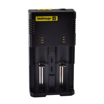 Nitecore I2 Universal Dual-Slot Rechargeable Battery Charger (Black) terpercaya