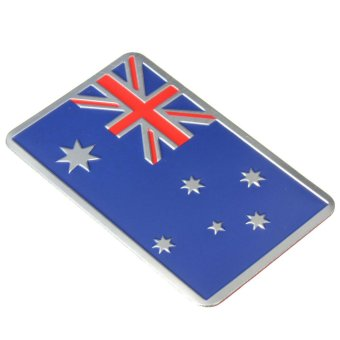 Car 3D Alloy Aluminum Chrome Decal Sticker Emblem For Australian Flag Badge (Intl)