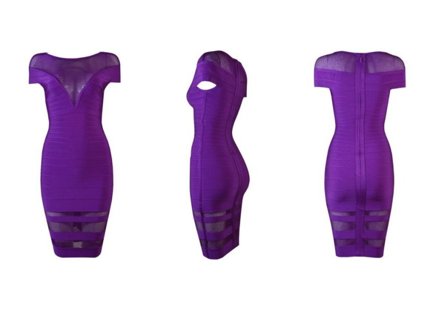 harga HERVE LEGER Multi Stitch Crochet Purple Bandage Dress (Intl) Lazada.co.id