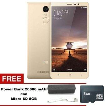 Xiaomi Redmi Note 3 pro 4G - 32GB - Silver + Free MMC 8GB - Powerbank20000 mAh