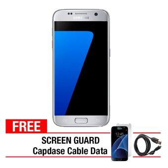 Samsung Galaxy S7 Flat - 32GB - Silver + Gratis Anti Gores + Capdase Micro USB