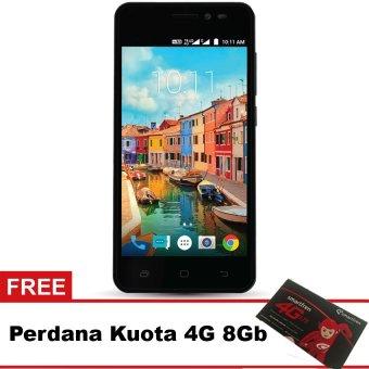 Smartfren Andromax A 4G LTE - Hitam + Gratis Perdana Quota 8Gb
