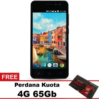 Smartfren Andromax A 4G LTE - Hitam + Quota 65Gb