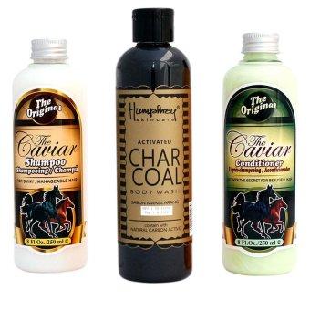 The Caviar Paket Shampo + Conditioner + Charcoal