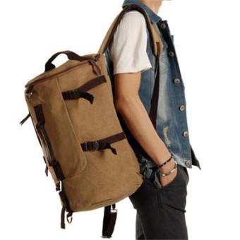 Men's Vintage Canvas Bag Outdoor Travel Backpacks - Intl