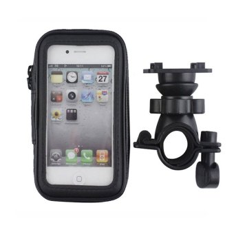 Waterproof Bag Case for Bike for iPhone 6 Plus 5.5 Inch (Black) (Intl)