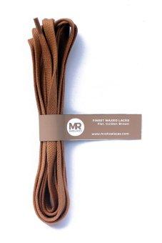 Mr. Sholeaces - Tali Sepatu Lilin Gepeng 6-7mm - Coklat Emas