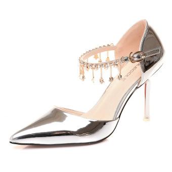 Women Elegant Comfortable Anti Slide Heel Shoes (Intl)
