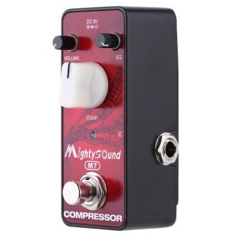 Mighty Sound M7 Mini True Bypass Compressor Effect Pedal for Electric Guitar (Intl)