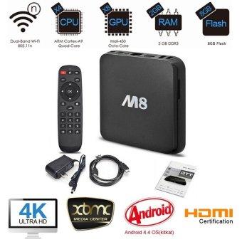 M8 Quad Cord Smart Android 4.4 TV Box (Intl)