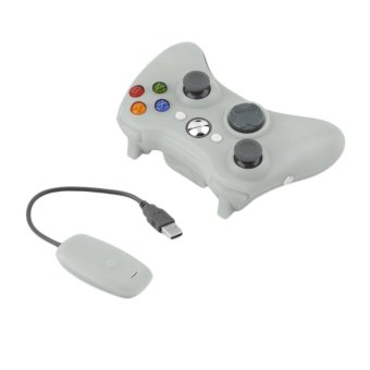 OH 2.4G Game Wireless Controller Gamepad Joystick & PC Receiver for XBOX360 White (Intl)