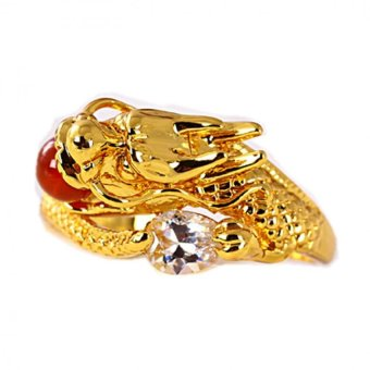 harga Xuping SJ0902 Cincin Red Ruby 18K Gold Plated - Emas Lazada.co.id