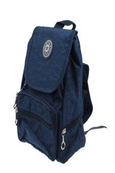 S & F Nylon leisure Backpack Rucksack School Satchel Hiking Bag Bookbag Dark Blue