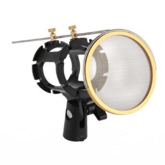 Professional Filter Studio Pop MIC Universal Suspension Microphone Shock Mount Clip Holder- Intl
