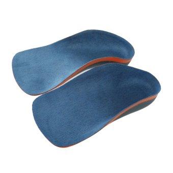 harga BolehDeals BolehDeals Kids Flat Foot Leg Valgus Orthotic Insoles Corrector Foot Care Pad Blue Lazada.co.id