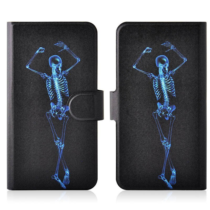 Blue Dancing Skull PU Leather New Flip Case Cover For Nokia Lumia 928