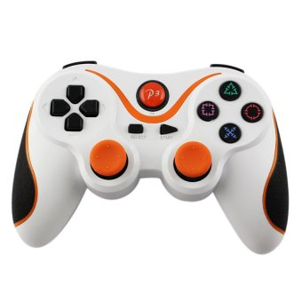 S & F Wireless Bluetooth Controller for Sony PS3 (White and Orange) - Intl
