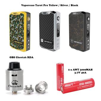 Electronic Cigarrettes Vape Kit - Vaporesso Tarot Pro + OBS Cheetah RDA + Batt AWT 18650 3000 mAH