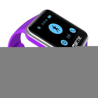 Professional W15 Bluetooth Smart Watch Action Sport Wristwatch For Iphone 6S 6 for Android Windows Phone Fitness Tracker (Purple) (Intl)