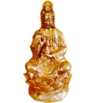 harga ND Art Patung Dewi Kwan Im Kuan Yin Bersila Memegang Kendi Diatas Lotus - Emas / Gold Lazada.co.id