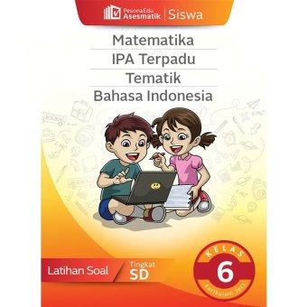 PesonaEdu Koleksi Soal Digital - Asesmatik Siswa Matematika IPA Terpadu Tematik & Bahasa Indonesia Kelas 6
